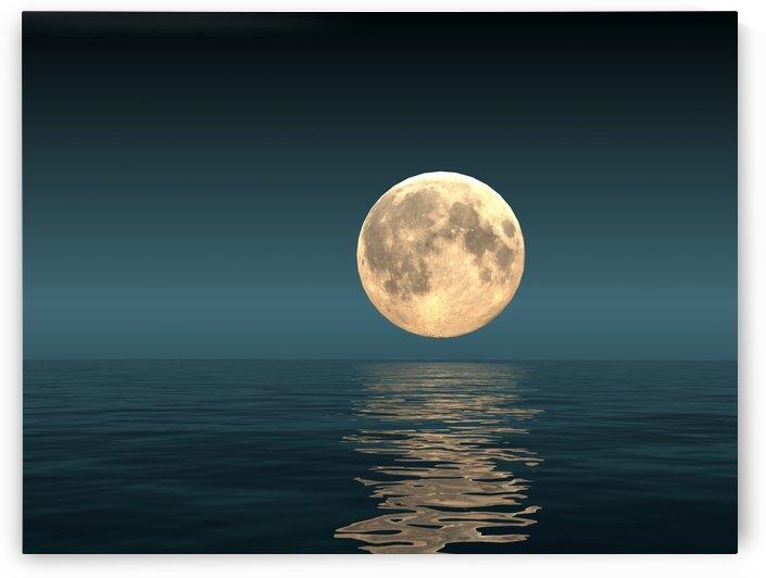 Seascape and Moon by ANA BORRAS