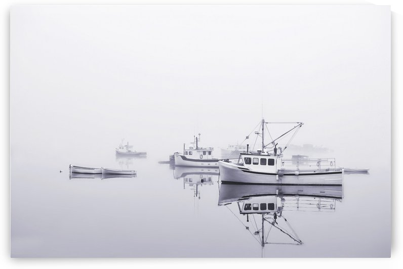 New Brunswick  Boats in the Mist by Alexandra Draghici
