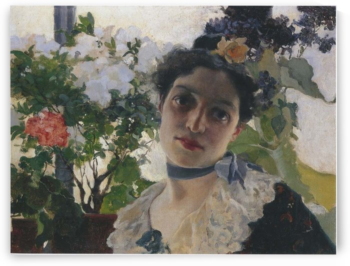 Portrait of Clothilde by Joaquin Sorolla