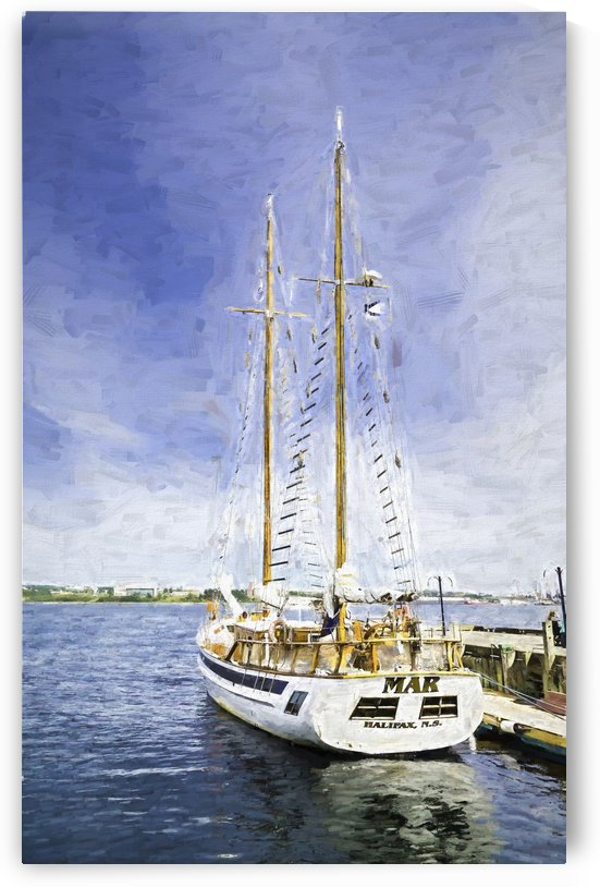 Mar Sailboat in Halifax Paint by Darryl Brooks