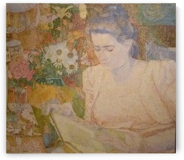 Portret van Marie Jeanette de Lange by Jan Toorop