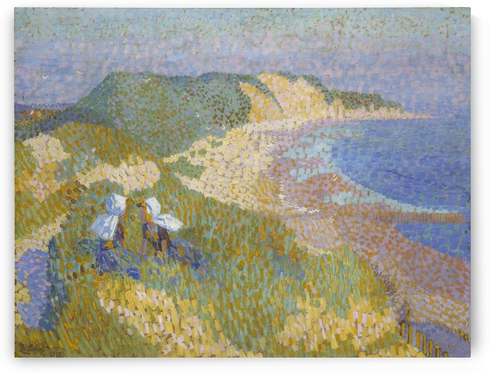 Dunes and sea in Zoutelande by Jan Toorop
