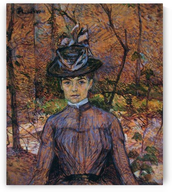 Portrait de Suzanne Valadon by Henri de Toulouse-Lautrec