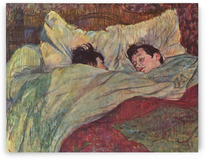 In Bed by Henri de Toulouse-Lautrec