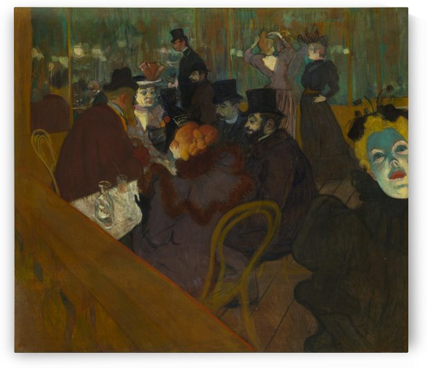 The cafe by Henri de Toulouse-Lautrec