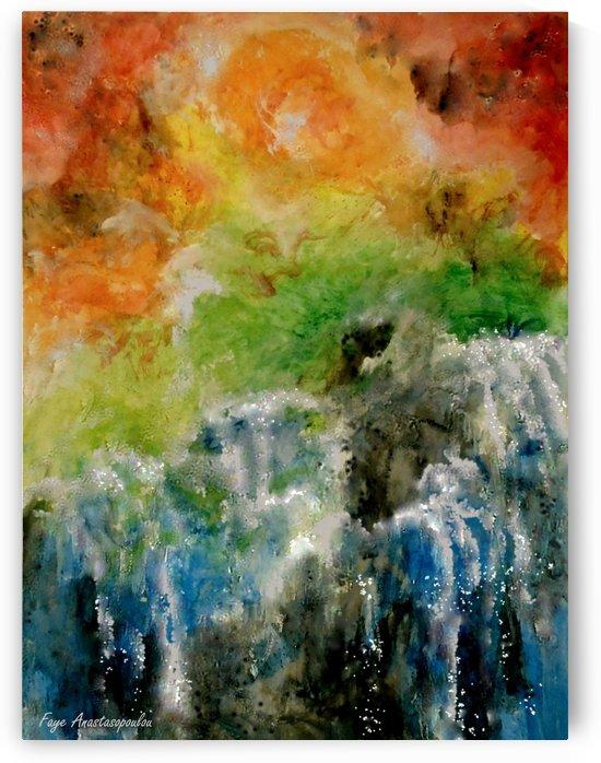 Sunset Waterfalls by Fotini Anastasopoulou