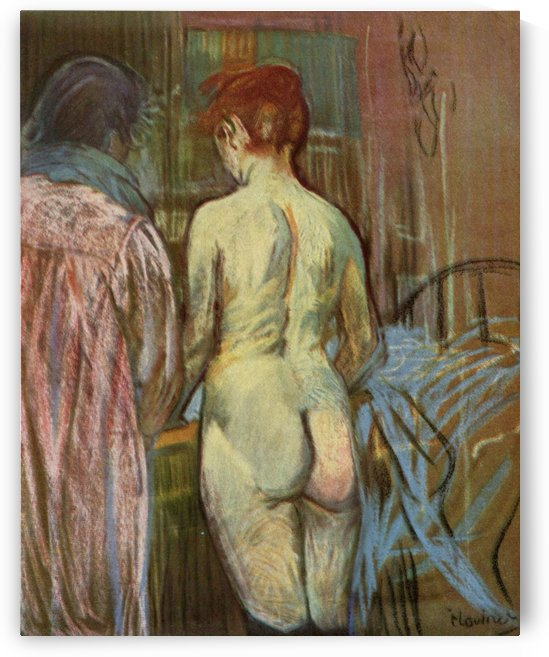 Two Girls by Henri de Toulouse-Lautrec