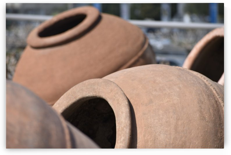 Large Clay Wine Pot - Cyprus 2 by Puzbie