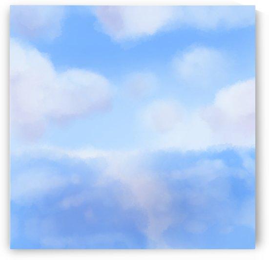 Happy Clouds - Original Artwork by Puzbie