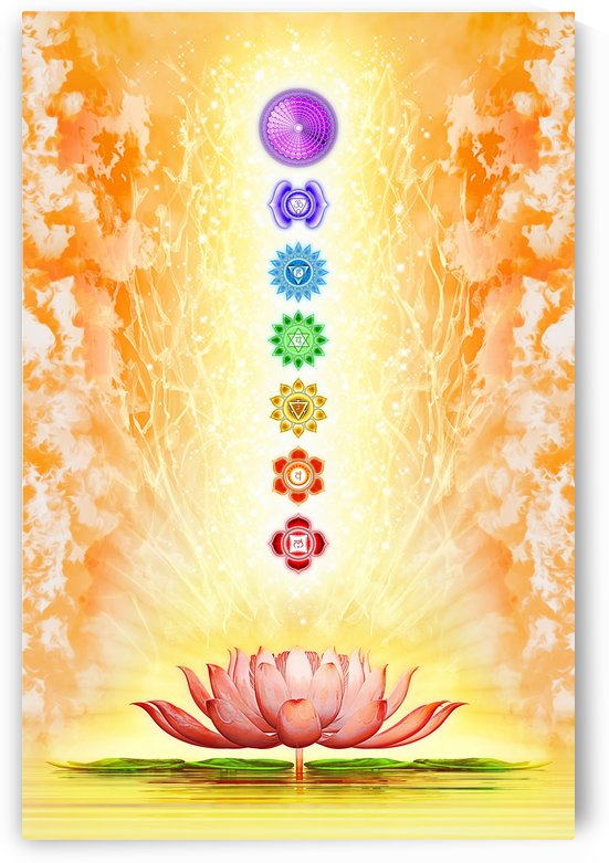 Sacred Lotus - The Seven Chakras by Dirk Czarnota