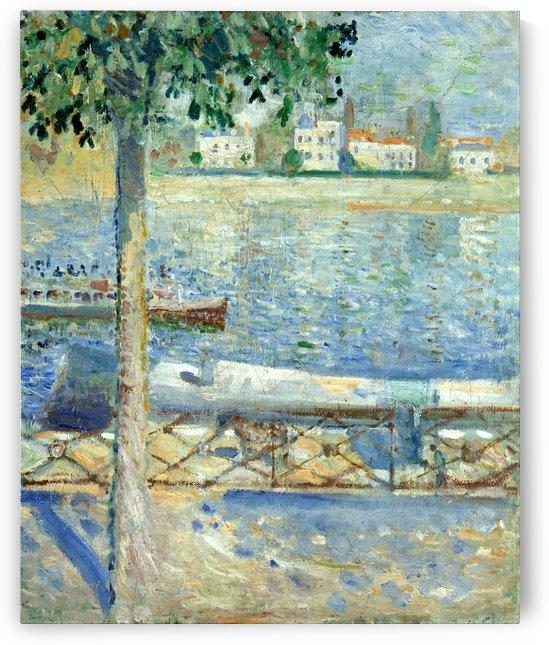 The Seine at Saint-Cloud by Edvard Munch