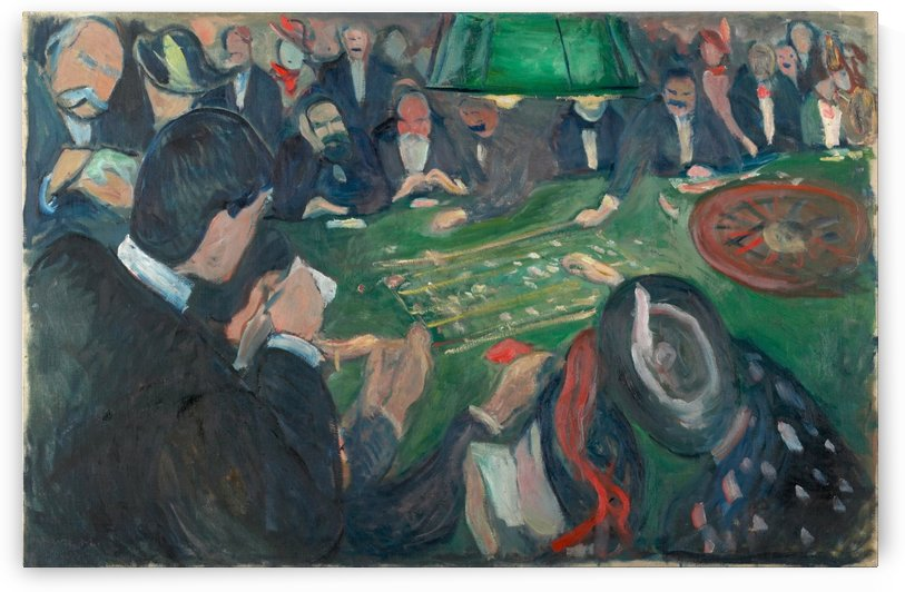 At the Roulette Table in Monte Carlo by Edvard Munch