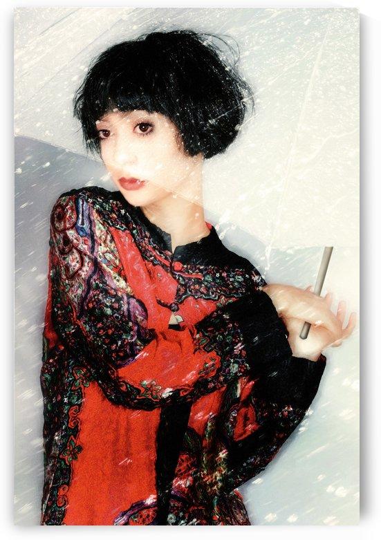 Girl with Umbrella by Elizabeth Berry elisabery