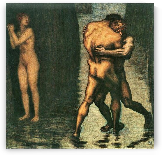 The struggle for women -2- by Franz von Stuck by Franz von Stuck