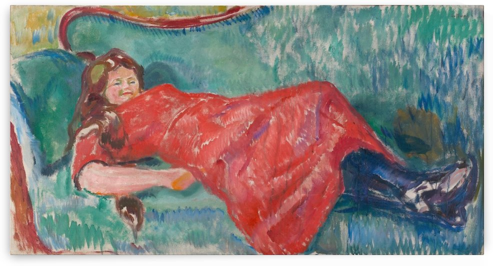 On the Sofa by Edvard Munch