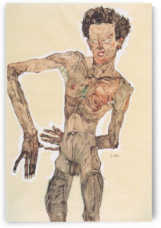 Grimassierendes by Egon Schiele