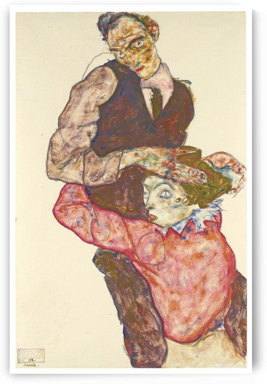 Lovers self-portrait by Egon Schiele