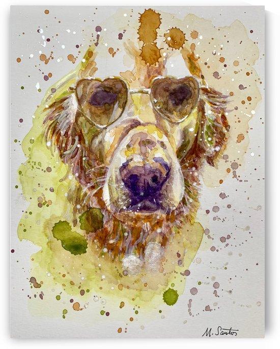 Golden Labrador - Portrait of Maynard by Marie Santos - M Santos Art