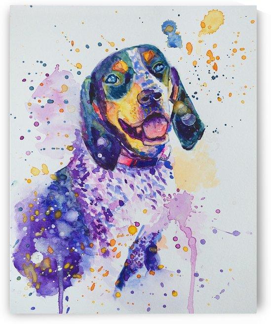 Beagle Dog - Lily Belle by Marie Santos - M Santos Art