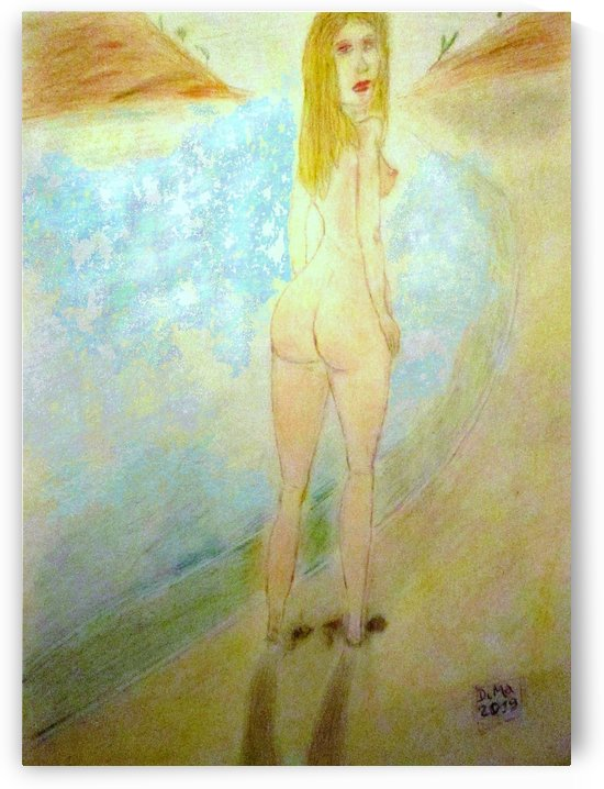 a naturist woman on the beach by DiMa