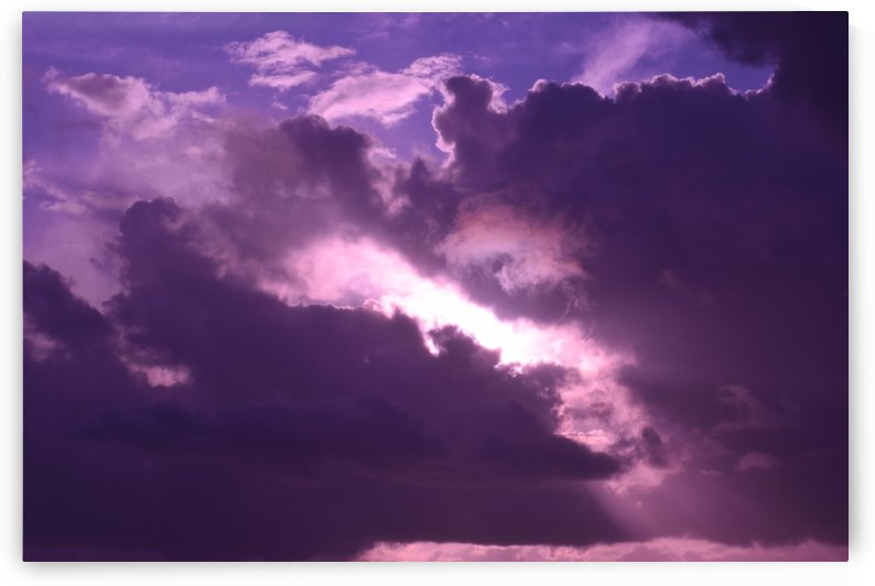 Purple Clouds at Sunset by Puzbie