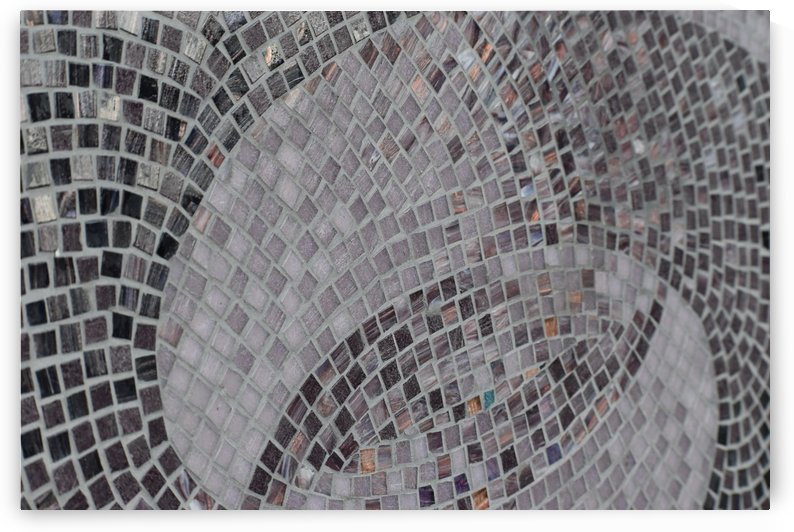 Mosaic Detail - Shades of Grey Brown and Cream by Puzbie
