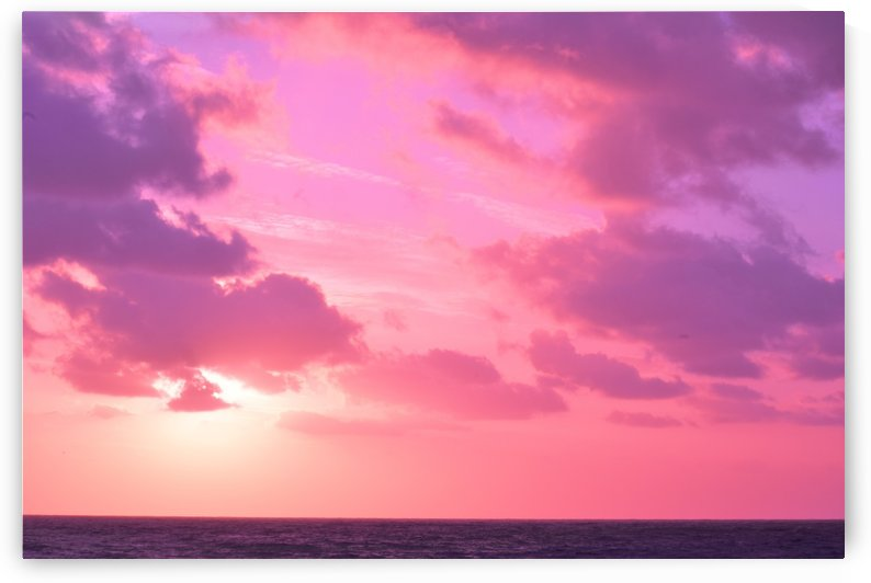 Sunset over the Sea - Shades of Pink by Puzbie