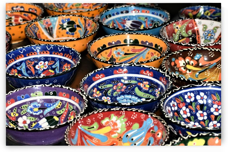Bright Colored Mediterranean Bowls by Puzbie
