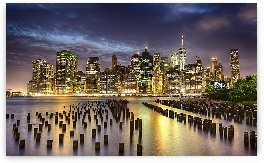 Manhattan at night by Cristian Grigore