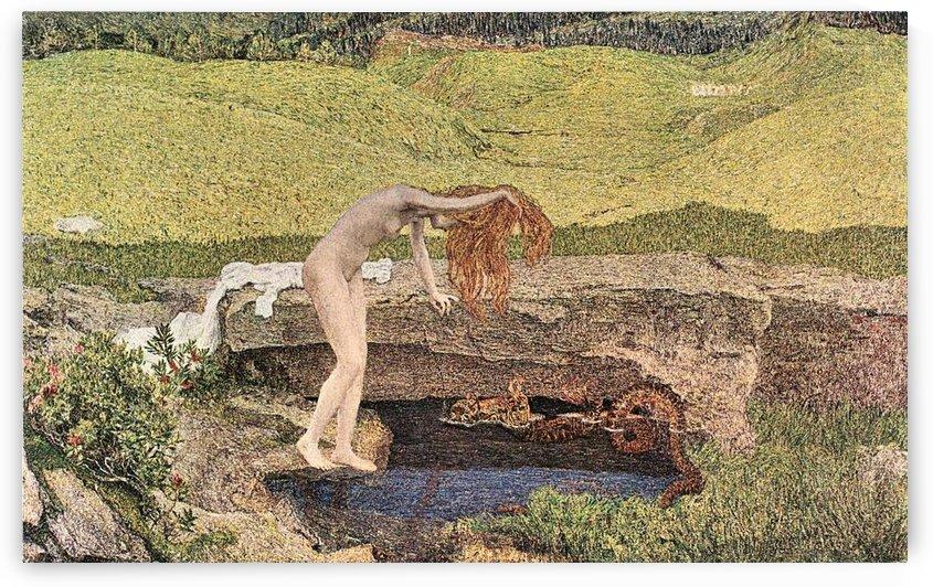 The vanity by Giovanni Segantini by Giovanni Segantini