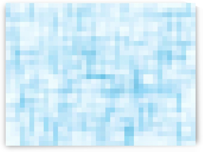 geometric square pixel pattern abstract in blue by TimmyLA