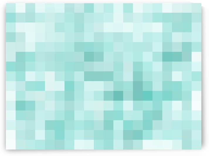 geometric square pixel pattern abstract in green by TimmyLA