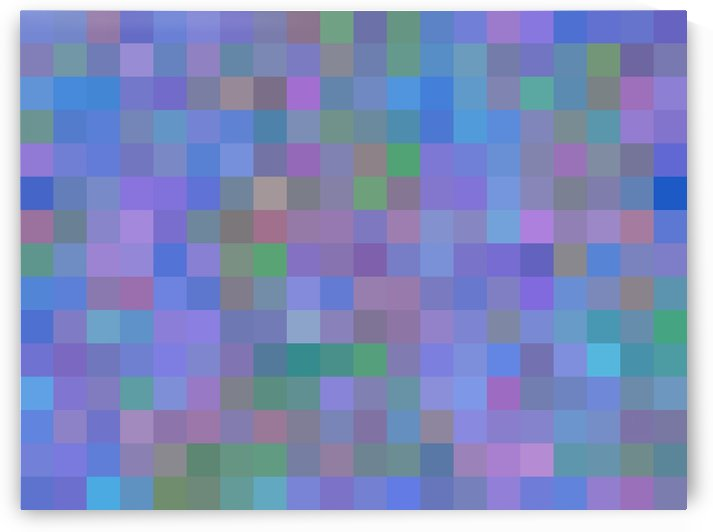 geometric square pixel pattern abstract in purple blue pink by TimmyLA