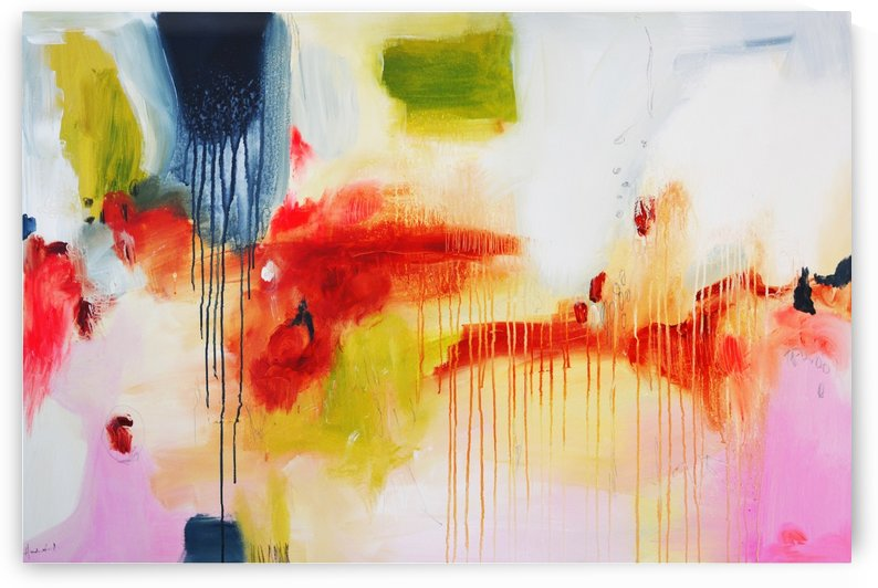 Abstract 06 - Golden Rain by Andrada Anghel