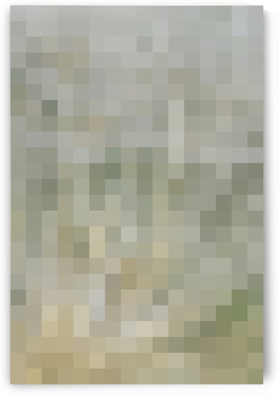 Abstract Pixel Picture - Neutral shades  by Puzbie