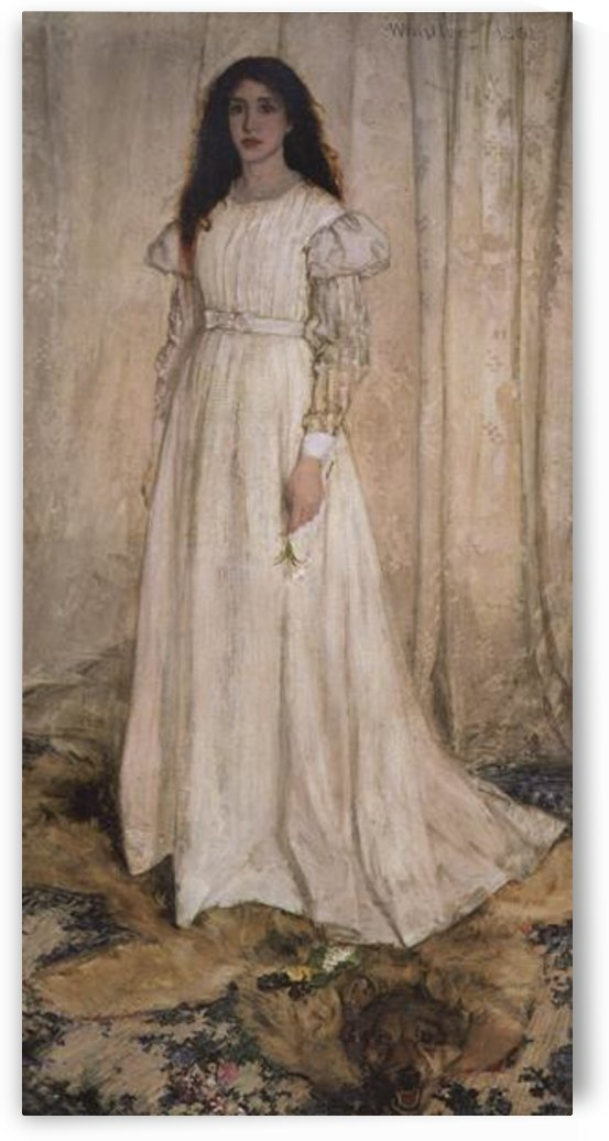 The white girl by Whistler by Whistler