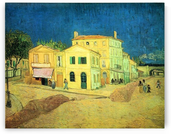 The Yellow House (Vincents House by Van Gogh by Van Gogh