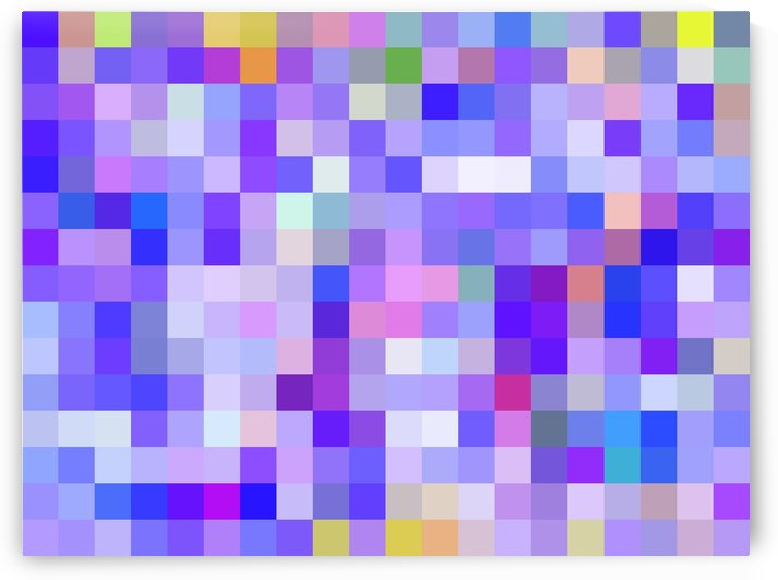 geometric square pixel pattern abstract background in blue pink purple by TimmyLA