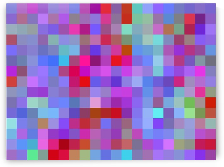 geometric square pixel pattern abstract background in pink blue purple by TimmyLA