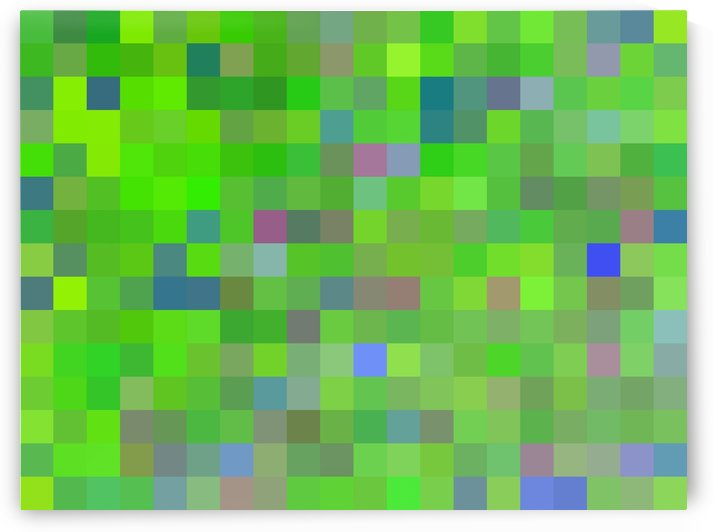 geometric square pixel pattern abstract background in green blue pink by TimmyLA