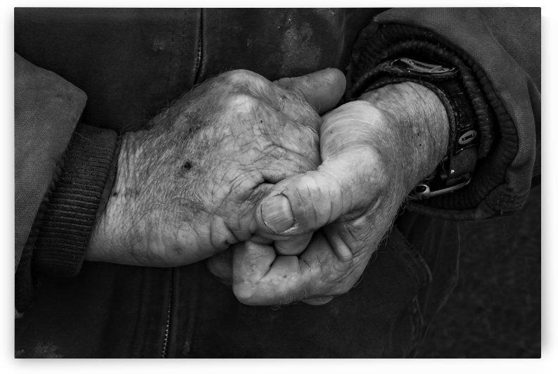 Cowboy Hand Warming BW by Garald Horst