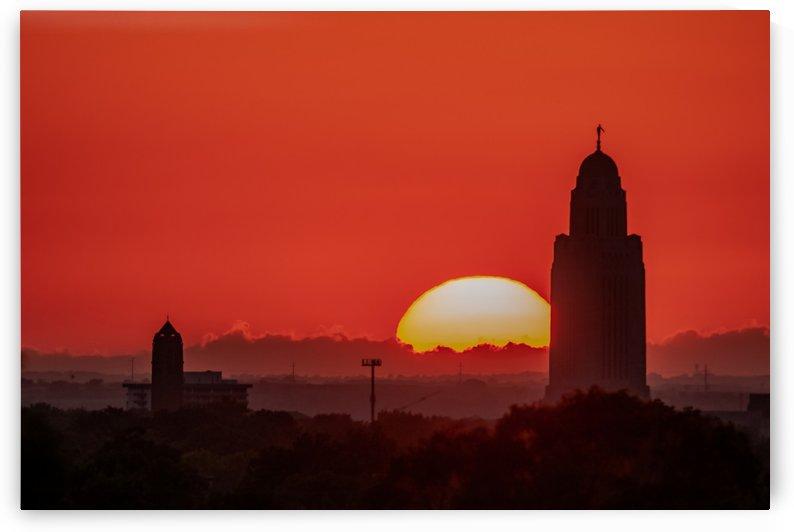Backlit Capitol Sunset by Garald Horst