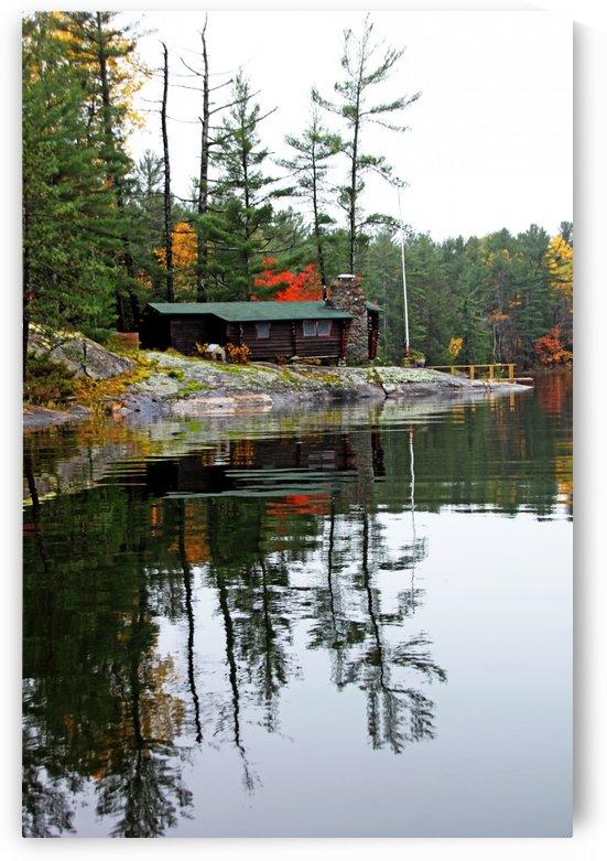 Cabin On  The Rocks by Deb Oppermann