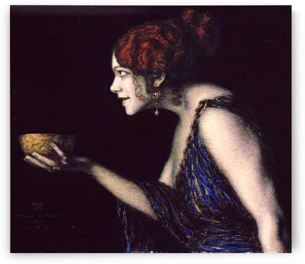 Tilla Durieux as Circe by Franz von Stuck by Franz von Stuck