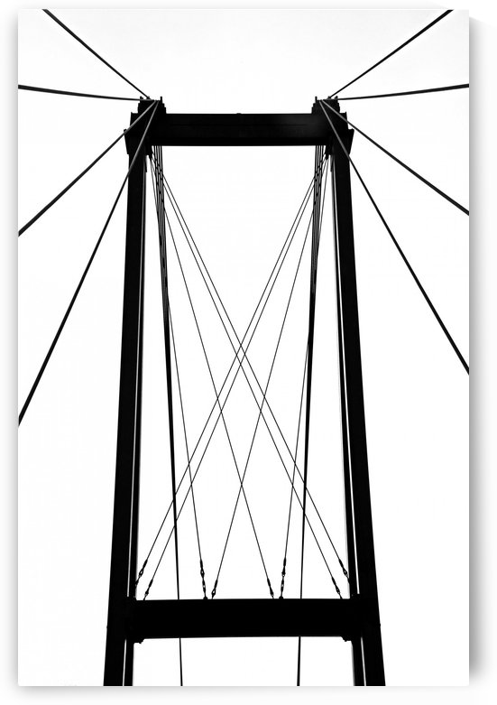 Cable Bridge Abstract by Deb Oppermann