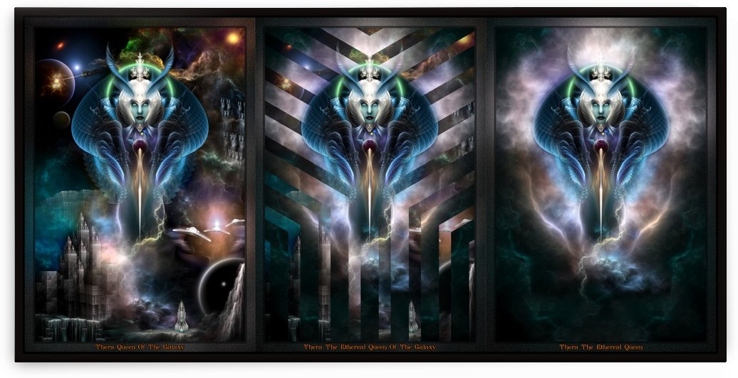 Thera Queen Fractal Trilogy 2XFrame by xzendor7