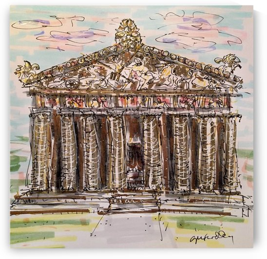 Parthenon Nashville April 2019 by Gerri Findley