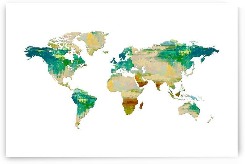 Artistic World Map I by Art Design Works