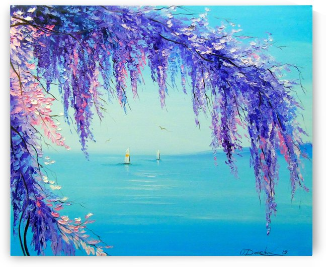 Wisteria by the sea by Olha Darchuk