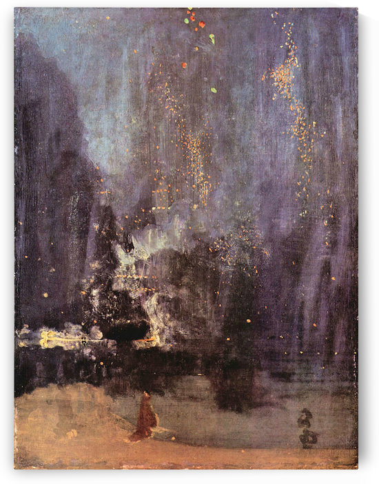 Nocturne in black and gold, the falling rocket by James Abbot McNeill Whistler by James Abbot McNeill Whistler